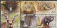 AUS SG4293a-7a Australian Native Animals set of 6 including block of 4